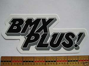 BMX PLUS Magazine RIDE Street Car BIKE FRAME STICKER DECAL   Free