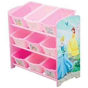 Disney Princess Girls Room 9 Storage Bin Toy Organizer