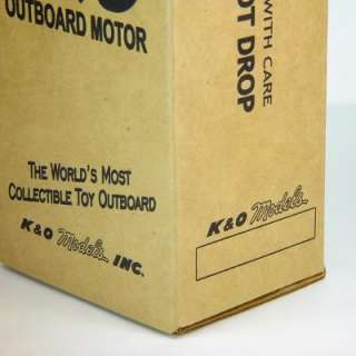 BOX for K&O TOY OUTBOARD BOAT MOTOR   EVINRUDE, MERCURY