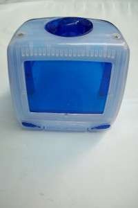 Blue Tv Shaped COIN BANK Box Toy