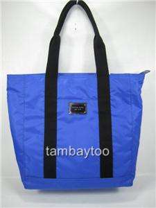 KORS North South Cobalt Blue Nylon Large Carryall Tote Bag