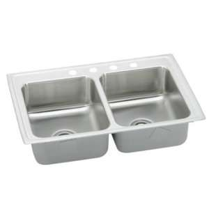 Top Mount Double Bowl 1 Hole Stainless Steel Sink LRQ25191 Home