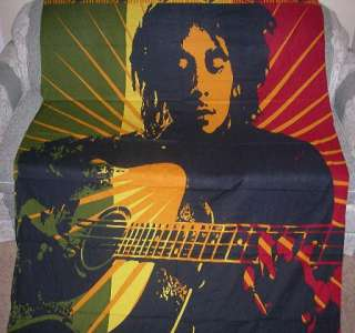 New Much Larger Size Bob Marley Bed Cover Tapestry Guitar Reggae Rasta