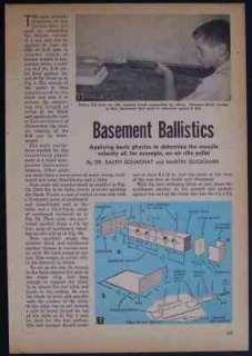 BALLISTICS HowTo PLANS Science Fair BB Gun Air Rifle