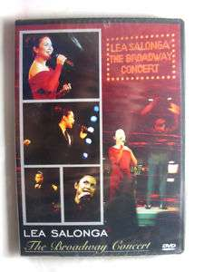LEA SALONGA THE BROADWAY CONCERT LIVE DVD *SEALED*