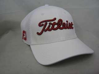 NEW 2012 TITLEIST SPORTS MESH GOLF HAT WHITE / REDSMALL / MEDIUM