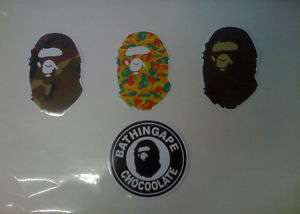 OF BAPE KAWS LOGO STICKER DECAL
