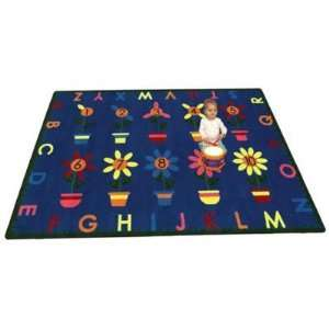 Joy Carpets Petal Pushers Kids Area Rug, 5 ft. 4 in. x 7
