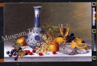 32x20 Fruits and Wine Still Life Fine Art Ceramic Tiles