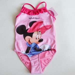 Baby Minnie Mouse Bikini Swimsuit Swimwear Bathers 2 9Y NWT