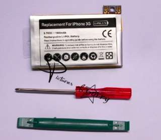 1600mAh Internal Battery Pack Replacement for APPLE iPhone 3G with