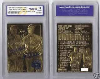 Babe Ruth Gehrig Mint 10 Graded Gold Auto Yankees Card