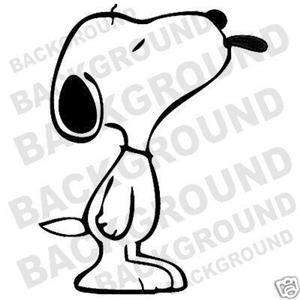 SNOOPY WITH TONGUE OUT car window sticker decal vinyl