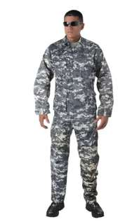 SUBDUED URBAN DIGITAL CAMOUFLAGE MILITARY BDU SHIRT ARMY
