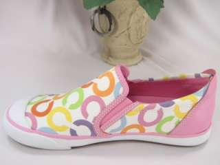 NIB Coach Beale Signature Pink Slip On Sneakers 7.5