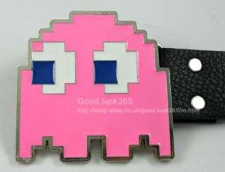 Vedio Game Pac man Ghost Metal Buckle & Leather Belt