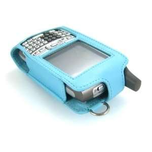 Blue luxury leather case for Palm Treo 700 w 700W 700p 700, Flip Style