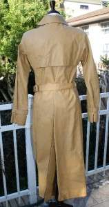 Vintage 70s Calvin Klein Beged Or Leather Coat sz 6