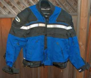 Joe Rocket Meteor4 Ballistic Motorcycle Jacket ~ Blue XL http//www