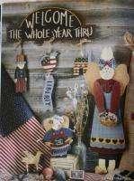 Folk Art Holiday Paint Wood Pattern Book Button Angels