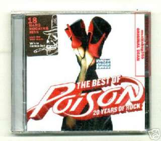 POISON, THE BEST OF POISON 20 YEARS OF ROCK. FACTORY SEALED CD. In