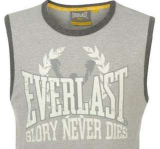 Everlast Mens Boxing Training Gym Vest Top T shirt Tank Grey M Large