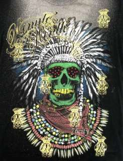 shirt L Tattoo Skull Indian Rock Motorcycle Bike Emo