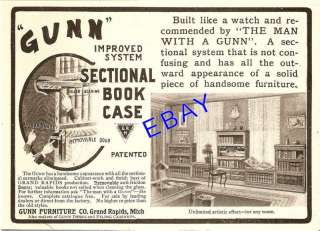 1904 GUNN SECTIONAL BOOKCASE AD GRAND RAPIDS MICHIGAN