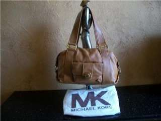 MICHAEL KORS TAN LEATHER SACHEL BAG TOTE PURSE HANDBAG
