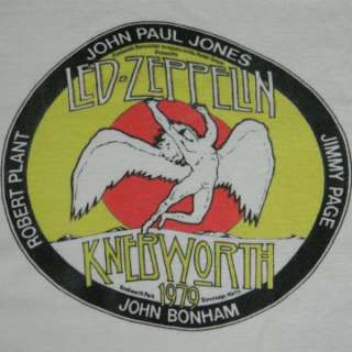ORIGINAL 1979 LED ZEPPELIN KNEBWORTH CONCERT T SHIRT VTG 70s JOHN