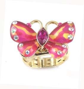 Betsey Johnson Jewelry Hawaiian Luau Butterfly Ring