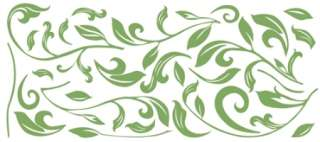 Leaf Scroll Self Adhesive Wall Mural Sticker Decal