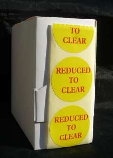 REDUCED TO CLEAR Box 500 Self Adhesive Labels Sticker