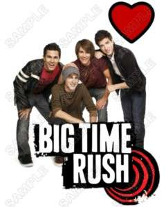 Big Time Rush T Shirt Iron on Transfer #1