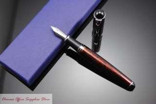 JINHAO X750 Luxury Gold Powder Paint Fountain Pen M Nib