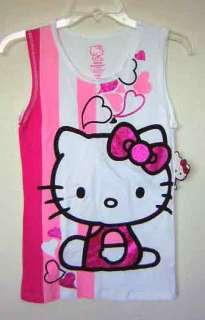 HELLO KITTY~ PINK GLITTER BOW CAMI BOOTY SHORTS SET M