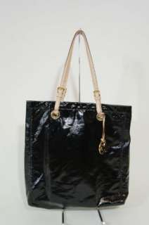 Michael Kors Jet Set Item Black Patent Leather Tote
