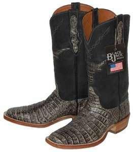 128 BLACK JACK Crocodile Cowboy Boots Womens 7 C $700