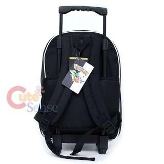 Pokemin Black and White School Roller Backpack Rolling Bag 4
