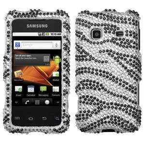 Zebra Crystal Diamond BLING Hard Case Phone Cover for Samsung Galaxy