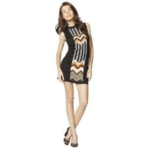 Missoni for Target Womens Sweater Dress Black Brown Sleeveless Knit