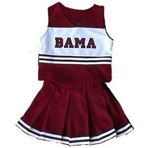 Alabama Crimson Tide NCAA Cheerdreamer Two Piece Uniform (Red 3T