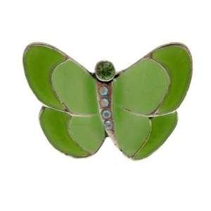 Acosta Jewellery   Green Enamel & Crystals   Fashion