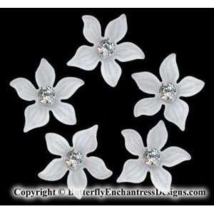 of 5 Swarovski Crystal Rhinestone Winter Zara Flower Bridal Hair Pins