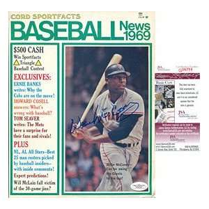 Willie McCovey Autographed / Signed 1969 Baseball News
