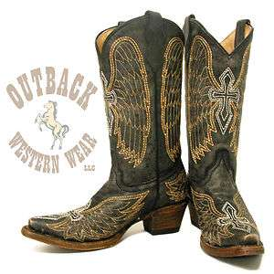 Corral Teen Cross & Wing Boots A1029