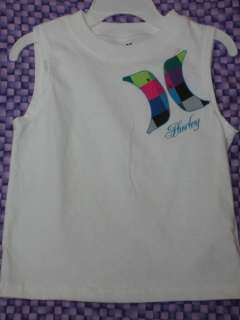 Hurley White Muscle Shirt for Infant Boys NWT