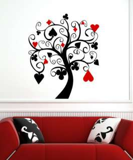 Ƹ̵̡Ӝ̵̨̄Ʒ POKER TREE Wall Decal Art Stickers Decor