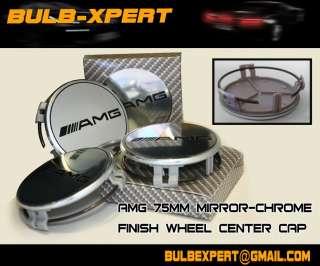 Mercedes Benz 75MM Chrome 4PCS Wheel Caps Set