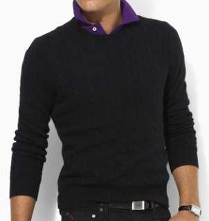 Polo Ralph Lauren Mens Cashmere Cable Knit Sweater Clothing
